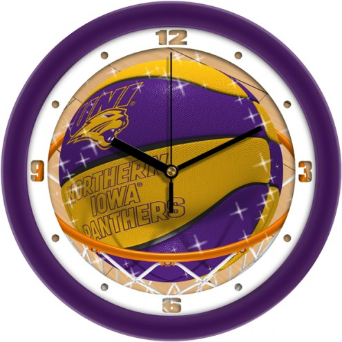 Northern Iowa Panthers Slam Dunk Wall Clock