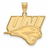 Northern Iowa Panthers Sterling Silver Gold Plated Large Pendant