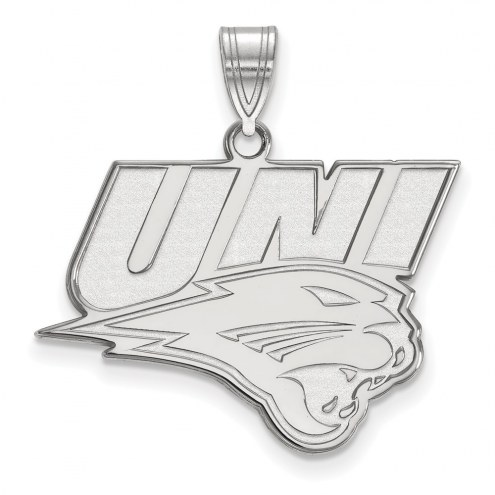 Northern Iowa Panthers Sterling Silver Large Pendant