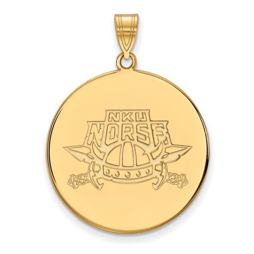 Northern Kentucky Norse Sterling Silver Gold Plated Extra Large Disc Pendant
