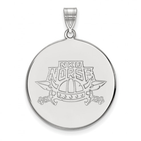 Northern Kentucky Norse Sterling Silver Extra Large Disc Pendant