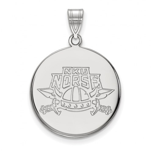 Northern Kentucky Norse Sterling Silver Large Disc Pendant