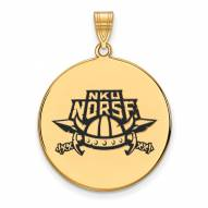 Northern Kentucky Norse Sterling Silver Gold Plated Extra Large Enameled Disc Pendant