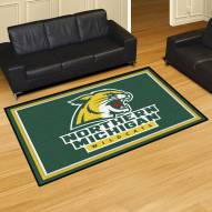 Northern Michigan Wildcats 5' x 8' Area Rug