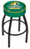 Northern Michigan Wildcats Black Base Swivel Bar Stool
