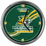 Northern Michigan Wildcats Dynamic Chrome Clock