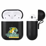 Northern Michigan Wildcats Fan Brander Apple Air Pods Leather Case