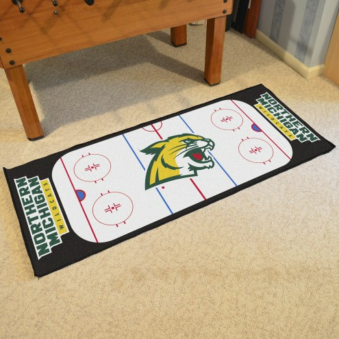 Northern Michigan Wildcats Hockey Rink Runner Mat
