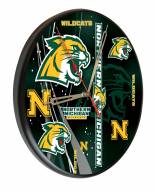 Northern Michigan Wildcats Digitally Printed Wood Clock