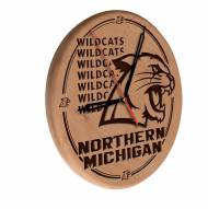 Northern Michigan Wildcats Laser Engraved Wood Clock