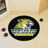 Northern Michigan Wildcats Hockey Puck Mat