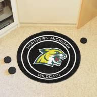 Northern Michigan Wildcats Hockey Puck Mat