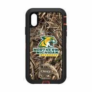 Northern Michigan Wildcats OtterBox iPhone XR Defender Realtree Camo Case