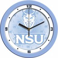 Northwestern State Demons Baby Blue Wall Clock