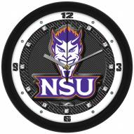 Northwestern State Demons Carbon Fiber Wall Clock