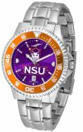 Northwestern State Demons Competitor Steel AnoChrome Color Bezel Men's Watch
