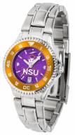 Northwestern State Demons Competitor Steel AnoChrome Women's Watch - Color Bezel