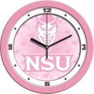Northwestern State Demons Pink Wall Clock
