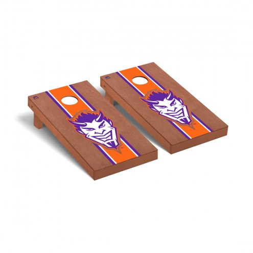 Northwestern State Demons Rosewood Stained Cornhole Game Set