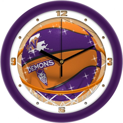 Northwestern State Demons Slam Dunk Wall Clock