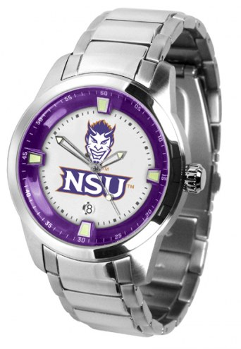 Northwestern State Demons Titan Steel Men's Watch