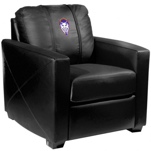 Northwestern State Demons XZipit Silver Club Chair with Demon Head Logo