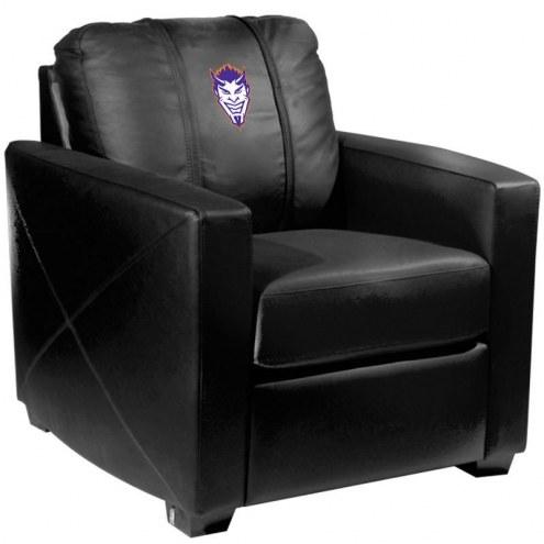 Northwestern State Demons XZipit Silver Club Chair with Demon Head Logo