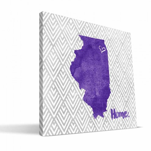 "Northwestern Wildcats 12"" x 12"" Home Canvas Print"