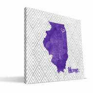"Northwestern Wildcats 12"" x 12"" Home Canvas Print"