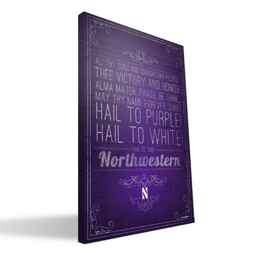 "Northwestern Wildcats 16"" x 24"" Song Canvas Print"