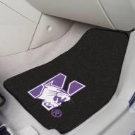 Northwestern Wildcats 2-Piece Carpet Car Mats