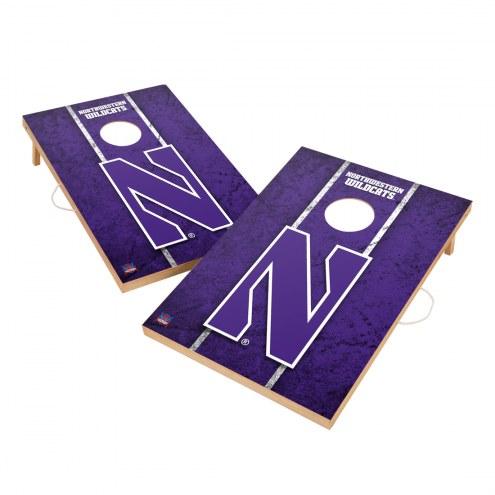 Northwestern Wildcats 2' x 3' Vintage Wood Cornhole Game