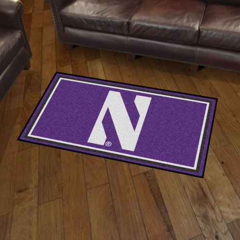 Northwestern Wildcats 3' x 5' Area Rug