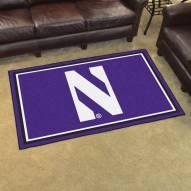 Northwestern Wildcats 4' x 6' Area Rug