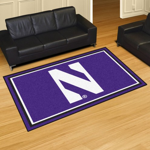 Northwestern Wildcats 5' x 8' Area Rug