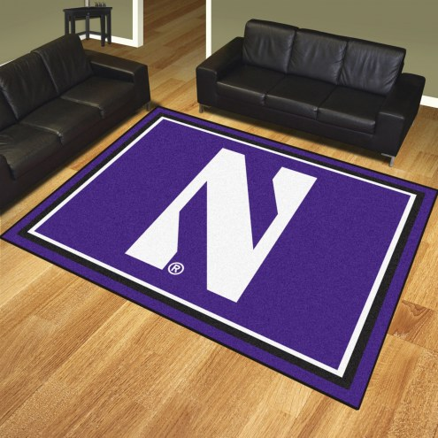 Northwestern Wildcats 8' x 10' Area Rug