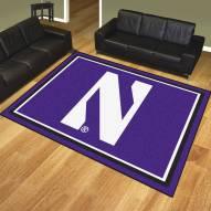 Northwestern Wildcats 8' x 10' Area Rug