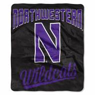 Northwestern Wildcats Alumni Raschel Throw Blanket