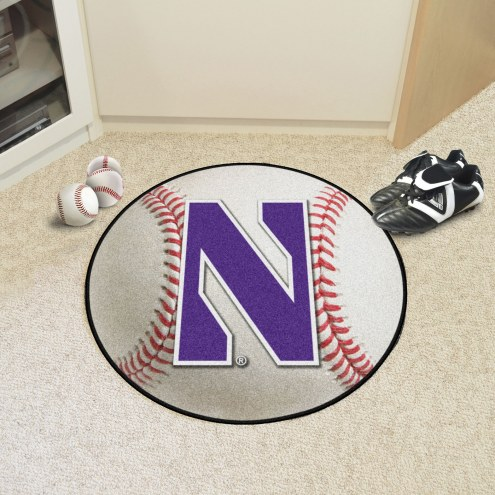 Northwestern Wildcats Baseball Rug