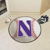 Northwestern Wildcats Baseball Rug