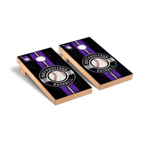 Northwestern Wildcats Baseball Vintage Cornhole Game Set