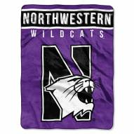 Northwestern Wildcats Basic Plush Raschel Blanket