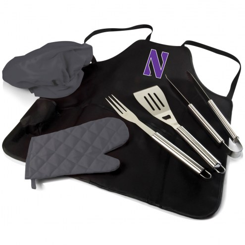Northwestern Wildcats BBQ Apron Tote Set