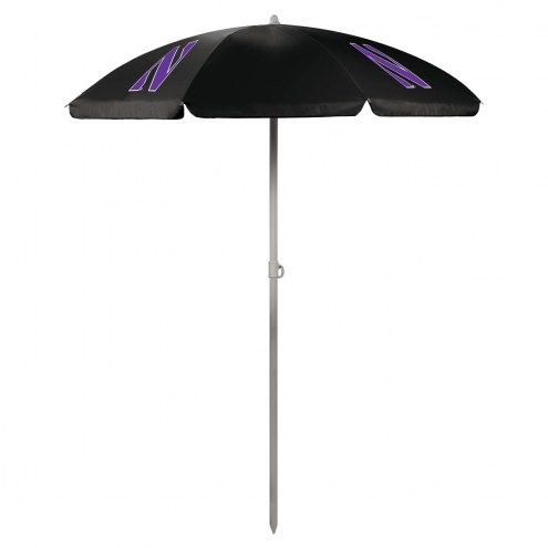 Northwestern Wildcats Beach Umbrella
