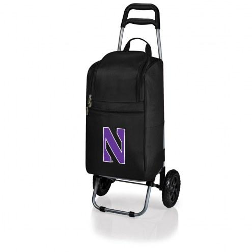 Northwestern Wildcats Black Cart Cooler