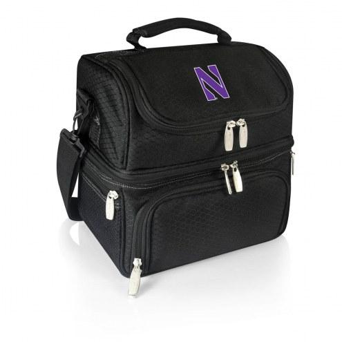 Northwestern Wildcats Black Pranzo Insulated Lunch Box