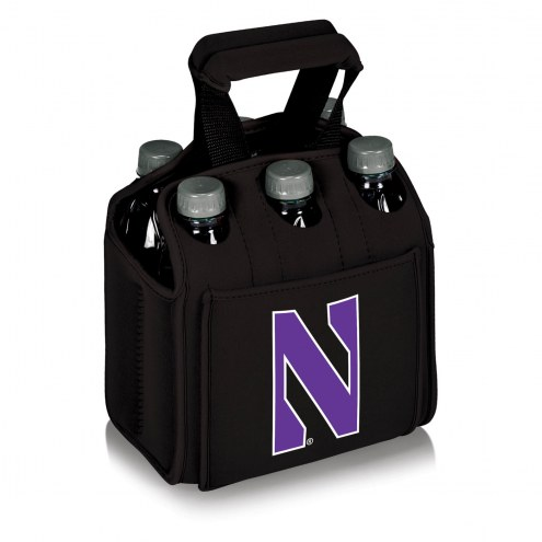Northwestern Wildcats Black Six Pack Cooler Tote