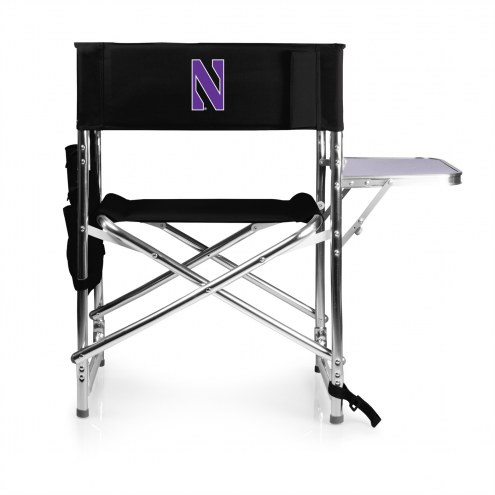 Northwestern Wildcats Black Sports Folding Chair
