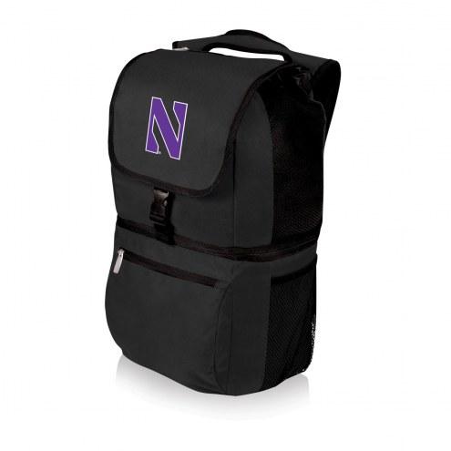 Northwestern Wildcats Black Zuma Cooler Backpack