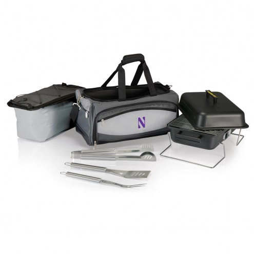 Northwestern Wildcats Buccaneer Grill, Cooler and BBQ Set